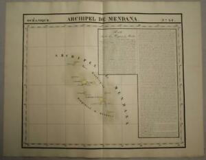 MARQUESAS ISLANDS FRENCH POLYNESIA 1827 VANDERMAELEN LARGE ANTIQUE MAP N° 34