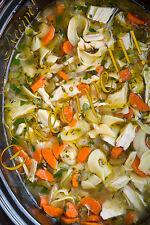 ☆Homemade Chicken Noodle Soup RECIPE☆Licious w/My Crusty, Rustic No-Knead Bread☆