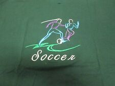 Soccer Embroidery T-Shirt Forest Green 2Xl Fruit of Loom Tee