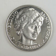 New listing Gibraltar Coin One Crown, 1991, Unc, 10th Wedding Anniversary