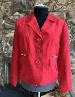 Studio Works Women Faux Suede Red Jacket 12
