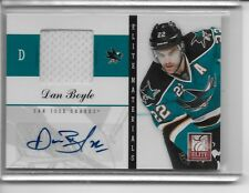 DAN BOYLE 2011-12 Panini Elite Materials Autograph L@@K #d 1/25