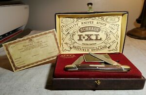 1980 SCHRADE I XL LIMITED EDITION WOSTENHOLM SHEFFIELD ENGLAND KNIFE NEW IN BOX