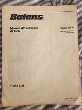 """Bolens Model 15570 42"""" Mower Attachment Parts List - 2 Pages"""