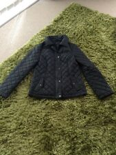 Oasis Size Small Black Padded Coat (Barber Style Jacket)