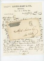 1873 Handwritten Letter Lucius Hart Metals NY York Alfred Andrews New Britain CT