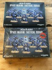 2x Games Workshop Warhammer 40K Space Marine Tactical Squad Boxed Sets