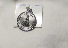 NOS NOC Estate 50s-60s Ster Disk CHARM bas relief 'MY MAID of HONOR' by Spencer