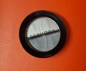 Sephora Eyeshadow Duo in SHINY SILVER Full Size .10oz/3ml SEALED