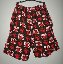 RED DOG beer XL shorts Miller Brewing bulldog mascot 1990s allover paw print