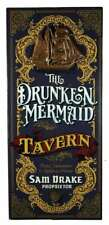 Vintage Wood Plank Sign Drunken Mermaid Tavern Personalized Bar Man Cave