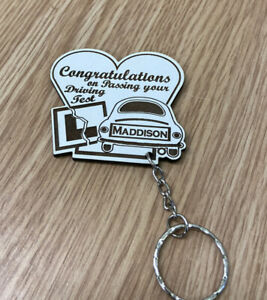 Personalised Congratulations On Passing Your Driving Test Keyring  Son Daughter