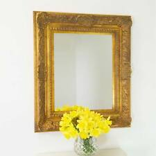 Wall Mounted Large Gold Antique Style Mirror 2Ft2 X 2Ft6 66cm X 75cm