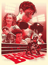 Joshua Budich Raging Bull Bloody Red GID Variant Poster Martin Scorcese Deniro
