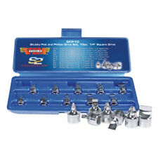 """VIM Tools SFP10 10 Piece 1/4"""" Square Drive Stubby Flat and Phillips Drive Set"""