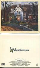 VINTAGE AUTUMN SEASON SQUIRREL HOUSE OCTOBER MOTTO PRINT 1 VICTORIAN HOUSE CARD