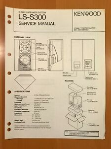 ORIGINAL SERVICE MANUAL & SCHEMATIC KENWOOD LS-S300 SPEAKER SYSTEM D514