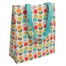dotcomgiftshop MID CENTURY POPPY REUSABLE RECYCLED PLASTIC SHOPPER SHOPPING BAG