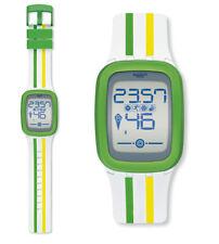 Swatch Stripezero Touch Zero un Montre SUVW101 Numérique Bluetooth,Chronographe,