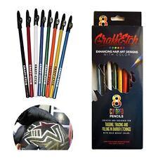 GraffEtch -  8 Pencils Colorate per Hair Tattoo Graffiti TATUAGGI CAPELLI MATITE