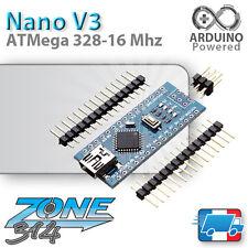 Arduino Nano V3.0 - ATmega 328P + barrettes - 5V / 16Mhz (DCCduino)