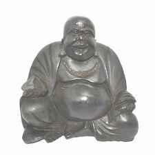 20cm Black Chinese Happy Laughing Buddha Statue