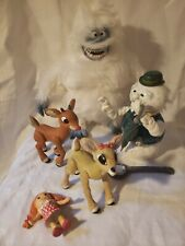 Vintage Rudolph and Company Lot Abominable Snowman, Rudolph, Sam, Sally Clairese