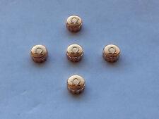 Lotto di 5 x Omega Rosa Placcato Oro Corona Orologio Chiavi (5.89 mm x 3.35mm) (