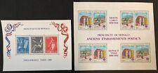 Monaco #1684,1717a 2  S/Sheets 1989-90 MNH