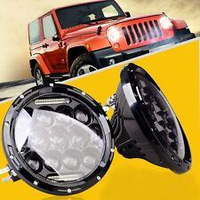 Pair Jeep 7 Inch Led Headlight DRL Jeep Wrangler Harley Cruiser Hummer MACK