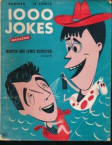 DEAN MARTIN & JERRY LEWIS Cover of Summer 1952 1000 JOKES MAGAZINE