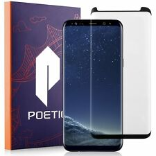 Poetic HD Samsung Galaxy S8 Shockproof Tempered Glass Screen Protector Black