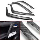 Carbon Fiber Style Inner Car Door Armrest Cover Trims For Toyota Rav4 2013-2018