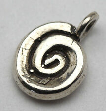 NICE Sterling Silver Pendant Spiral Charm 925 STAMPED sea  Shell conch Vintage