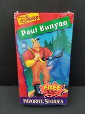Walt Disney Mini Classics Paul Bunyan Favorite Stories Storybook VHS