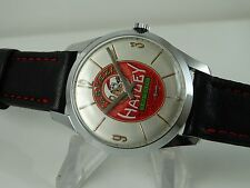 OLD AND BIG SWISS WATCH REFINISHED CERVEZA HATUEY DIAL