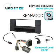 BMW 5 E39 1 Din Fitting Kit + Steering Wheel Adaptor CTSBM004.2 Kenwood lead