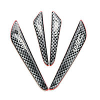 4Pcs Real Carbon Fiber Car Side Door Edge Protection Guards Stickers Black