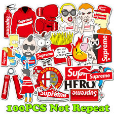 100 Supreme Box LOGO Mixed Skateboard Vinyl Sticker Laptop Luggage Car Stickers