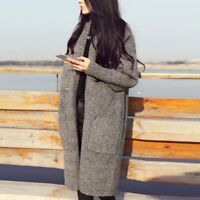 Womens Fashion Outwear Loose Sweater Knitted Long Sleeve Cardigan Jumper Coats