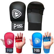 Kids Karate Martial Arts Training Mitts Gloves No Thumb Blue & Red Color 1018