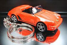 Porsche 911 Speedster Key Chain Ring Red Cabriolet Diecast Custom Fob