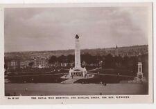 Naval War Memorial & Bowling Green, Plymouth RP Postcard, B583