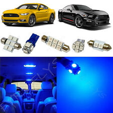 8x Blue LED lights interior package kit for 2015 & Up Ford Mustang FM5B