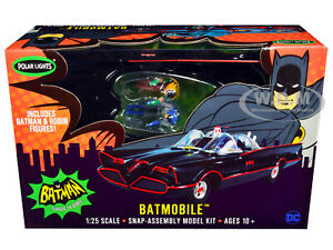 SKILL 2 SNAP MODEL KIT 1966 BATMOBILE & BATMAN & ROBIN 1/25 POLAR LIGHTS POL965