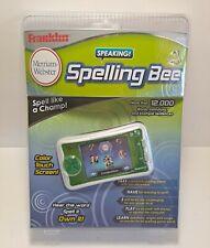 Franklin Speaking Spelling Bee Merriam Webster