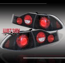 98-00 HONDA ACCORD 4D 4DR ALTEZZA TAIL LIGHTS LAMP BLACK 99 DX EX LX SE SEDAN BK