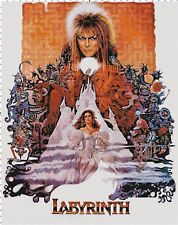 Vintage Labyrinth Movie David Bowie Poster Classic Counted Cross-Stitch Pattern