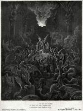 Gli angeli ribelli diventano mostri dell'inferno. Milton: Paradiso Perduto. 1881