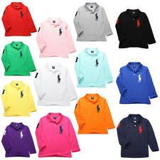 Kids' Boys Girls Comfortable mesh Long-sleeved T-shirt 10 Color 2-13Y TOP